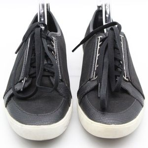 Calvin Klein Black Suede Lace Up Sneakers Size 7.5